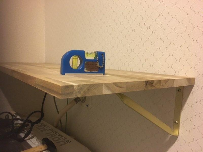 【DIY】棚板で洗濯機上に収納棚を作ろう!失敗しない石膏ボードへの施工ポイントも紹介します!